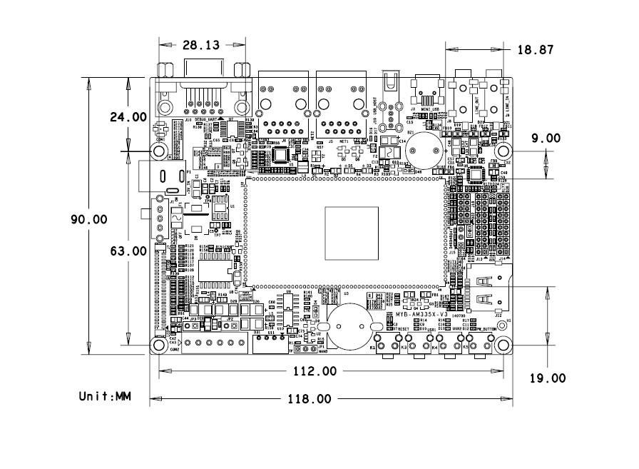 个蜂鸣器              电源指示灯              1个电源指示灯(底板
